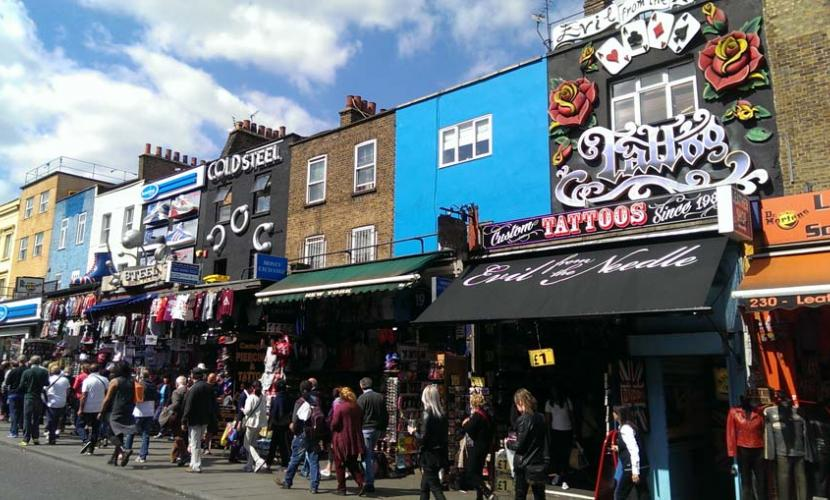 Busy Camden High Street all year round