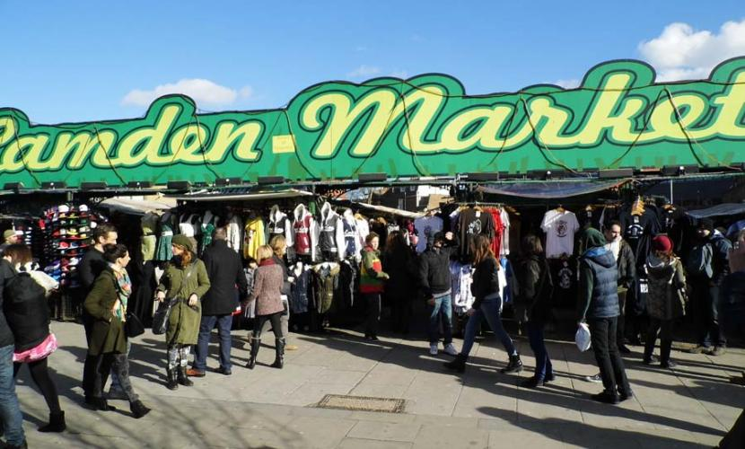 Camden Market on the corner of Camden High and Buck street