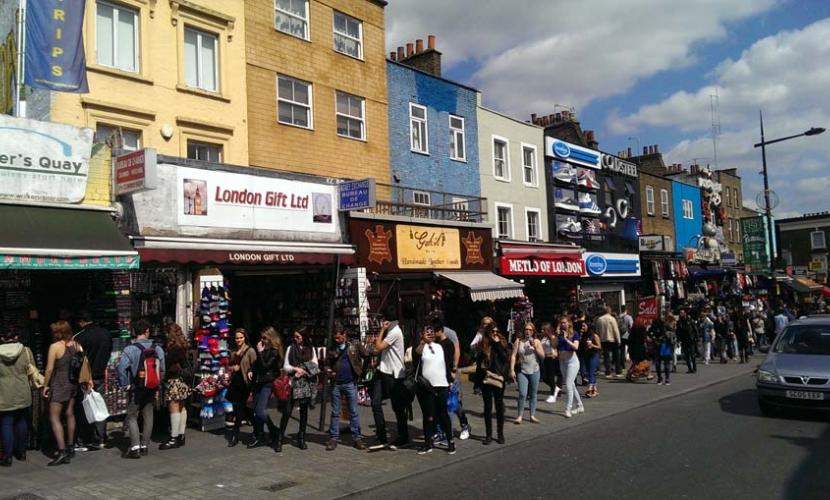 Camden High Street shopping