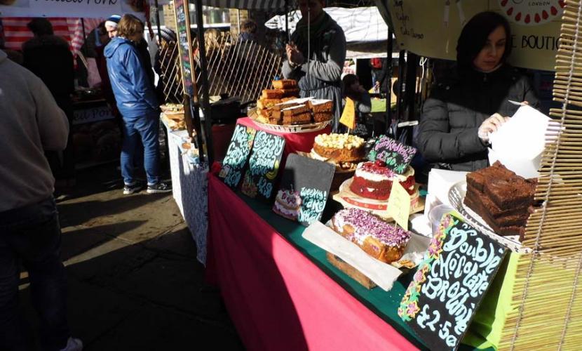 Food stalls near Camden Lock Market