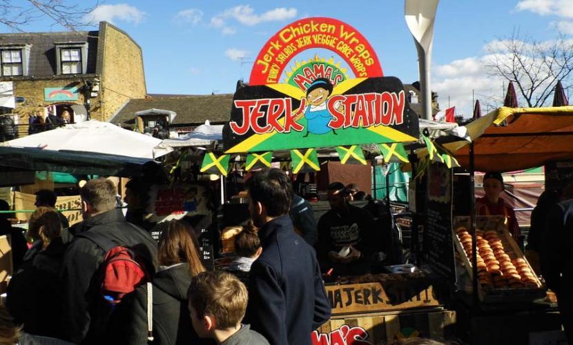 Camden Lock Market - Jerk chicken
