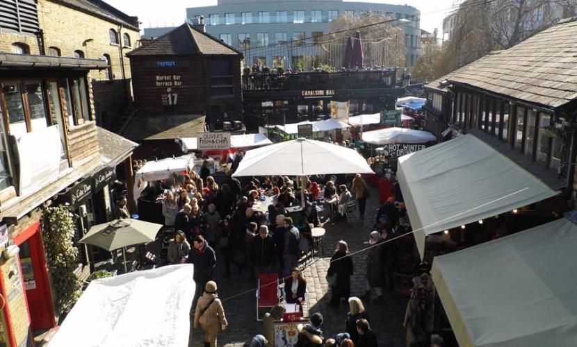 Camden Lock Market Stalls