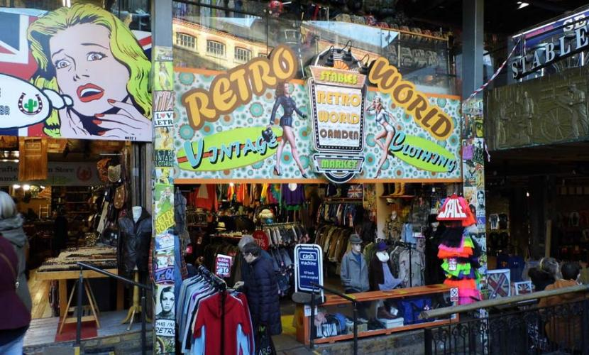 Retro shopping in Stables Market