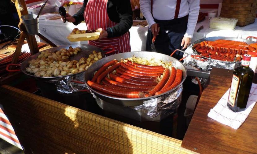 Sausage stall near Lock Market