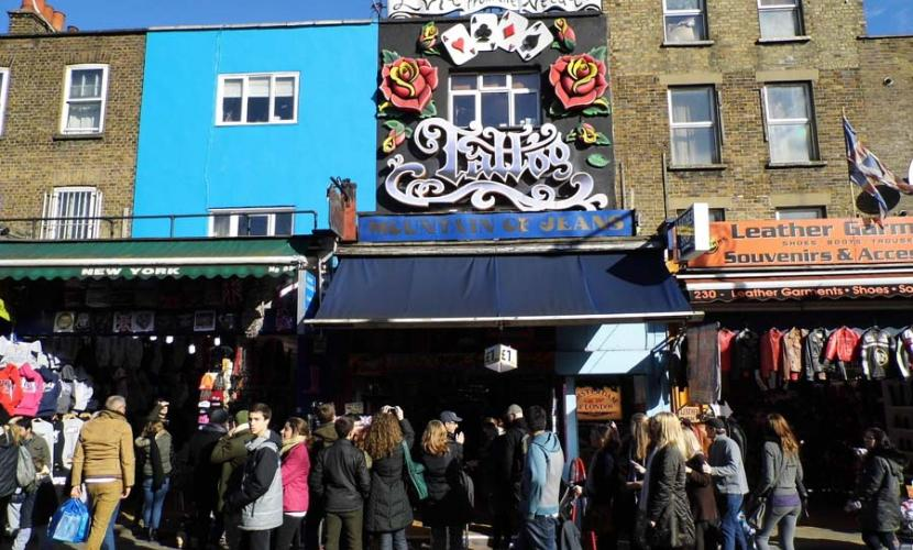 Tattoo salon on Camden High Street